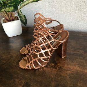 Steve Madden Bronze Strappy Heels